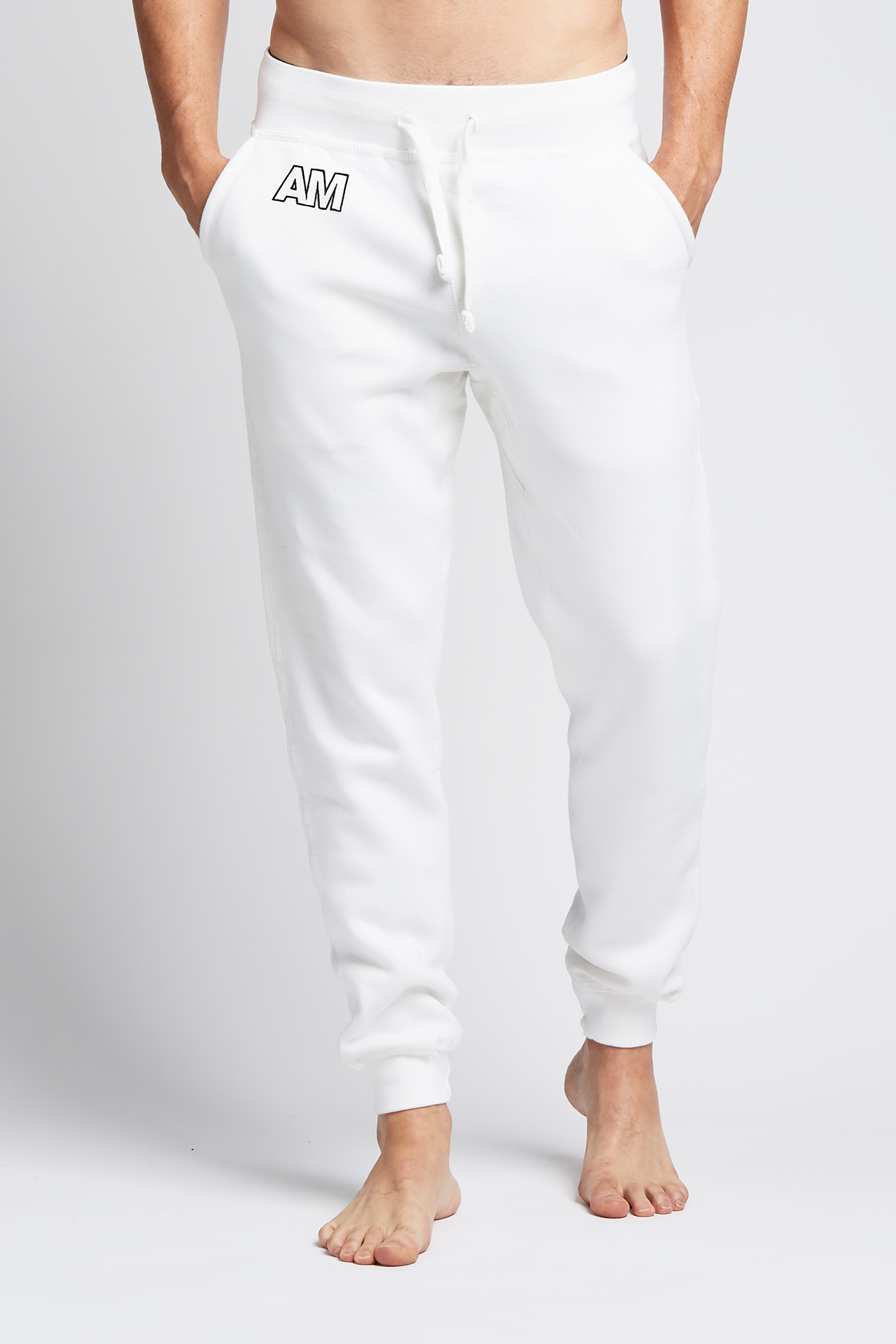 AM Jogger Sweatpants in White