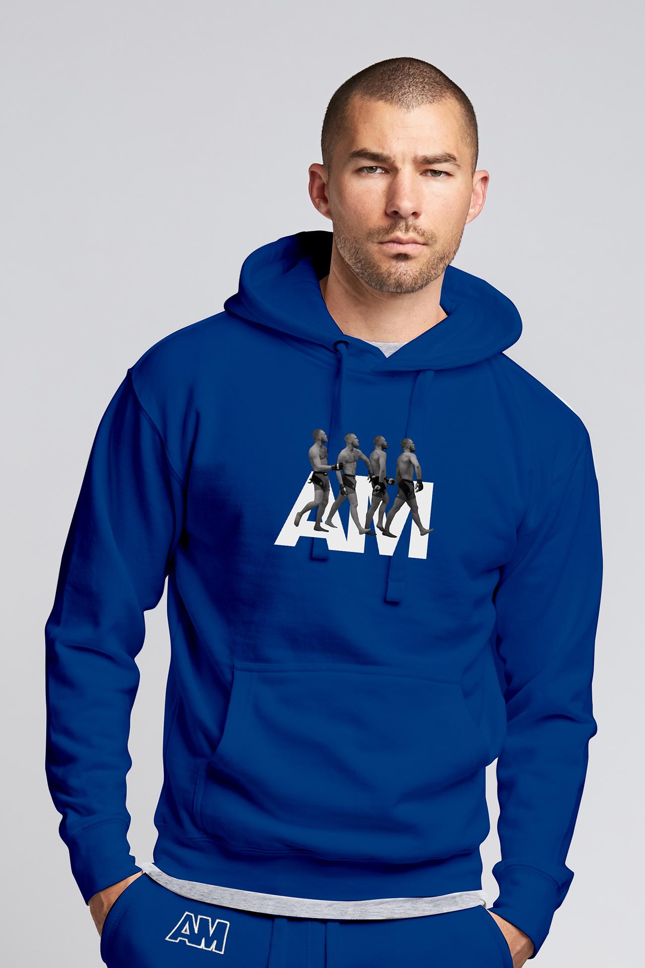 Billionaire Strut Hooded Sweatshirt in Royal Blue