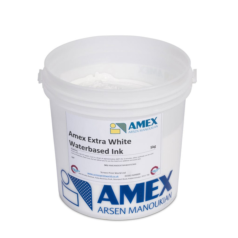 Amex Extra White Waterbased Ink
