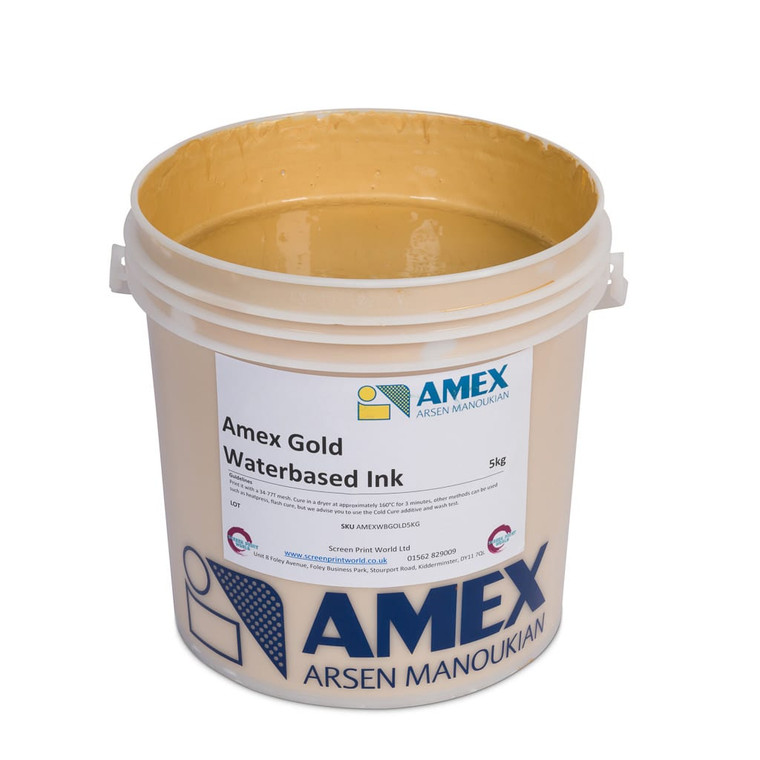 Amex Gold Waterbased Ink