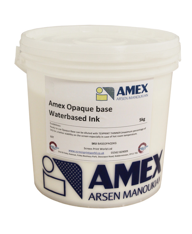 Amex Opaque Base Waterbased Ink