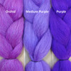Color comparison from left to right: Orchid, Medium Purple, Purple