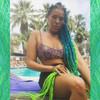 Whitney wearing Petrol Green, Light Petrol Green, and Neon Lemon Lime