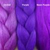 Color comparison from left to right: Orchid, Purple, Neon Purple