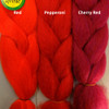 Color comparison from left to right: Red, Pepperoni, Cherry Red