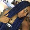 O'Shawna wearing Midnight Blue braids