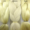 Color comparison from left to right: 613 Platinum Blond, 1001/613 Creamy Blond, Blond