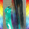Vibrant Rainbow braids by Magic Hands, LLC
