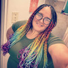 Braids by Art By Domi in Vibrant Rainbow