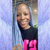 Melyssah wearing braids in Periwinkle - Purple and Sea Lavender