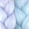 Color comparison from left to right: Periwinkle Purple, Periwinkle Blue