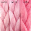 Color comparison from left to right: Snow Pink, Light Pink, Candyfloss