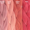 Color comparison from left to right: Vintage Pink, Dusty Rose, English Rose, Rose