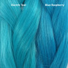 Color comparison from left to right: Electric Teal, Blue Raspberry