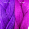 Color comparison from left to right: Neon Purple, Hot Purple