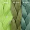 Color comparison from left to right: Mojito, Khaki Green, Mint Green