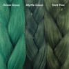 Color comparison from left to right: Ocean Green, Myrtle Green, Dark Pine