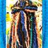 Back view of Layla's marley braid install