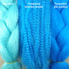 Color comparison from left to right: Sky Blue, Turquoise, Turquoise
