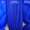Color comparison from left to right: Cobalt Blue, Navy Blue, Navy Blue