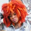 Jerusha wearing Orange marley braid