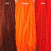 Color comparison from left to right: 350 Rusty Red, Orange, Red
