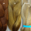 Color comparison: 30 Light Auburn, 27 Strawberry Blond, and 27/613 Mixed Blond