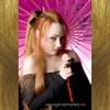 Kanamimi wearing a loose hairpiece made from 27 Strawberry Blond kk jumbo braid.  Image (C) Gregg Horst Photography