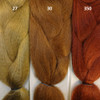 Color comparison from left to right: 27 Strawberry Blond, 30 Light Auburn, and 350 Rusty Red