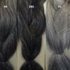 Color comparison from left to right: 44 Gunmteal, 280 silvery Smoke, 51 Grey