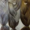 Color comparison: 51 Grey, 4/22 Dark Brown/Ash Blond Mix, and 4/27 Dark Brown/Strawberry Blond Mix