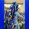 Ger Tysk as Shiva, rocking a wig made from tons of Cobalt Blue kk jumbo braid