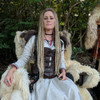 Synthetic dreads in 24 Dark Blond and 613 Platinum Blond by DreadNaughty LLC