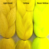 Color comparison from left to right: Light Gold, Yellow, Neon Yellow