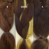 Color comparison from left to right: 8 Ash Brown, GSF24, and 4 Dark Brown