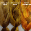 Color comparison from left to right: 27 Strawberry Blond, 30/144 Honey Moon, and GSRB27 Pumpkin Mix.
