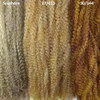 Color comparison from left to right: 6/27/613 Seashore, 27/613 Mixed Blond, 30/144 Honey Moon