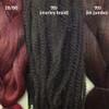 Color comparison from left to right: Red Wine, 99J Black Wine, 99J Black Wine kk jumbo braid