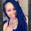 "_day.n wearing twists made from 19"" Marley Braid, 280 Silvery Smoke (RastAfri)"