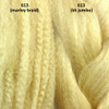 Color comparison from left to right: 613 Platinum Blond marley braid, 613 Platinum Blond kk jumbo braid