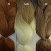 Color comparison from left to right: 30 Light Auburn, Latte, 12 Light Brown