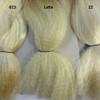 Color comparison from left to right: 613 Platinum Blond, Latte, 22 Ash Blond