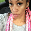 unknown_dva wearing feed-in braids in Bubblegum Ombré and Pastel Pink