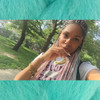 emceeback_ wearing braids in Sky Blue, Lavender, and Pastel Pink