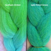 Color comparison: Seafoam Ombré on the left and Light Petrol Green on the right