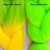 Color comparison: Lemon Lime Ombré on the left and Neon Lemon Lime on the right