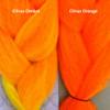 Color comparison: Citrus Ombré on the left and Citrus Orange on the right