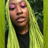 Christine wearing Moss Green braids