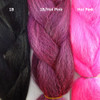 Color comparison from left to right: 1B Off Black, 1B Off Black/Hot Pink Mix, Hot Pink