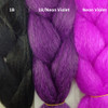Color comparison from left to right: 1B Off Black, 1B Off Black/Neon Violet Mix, Neon Violet